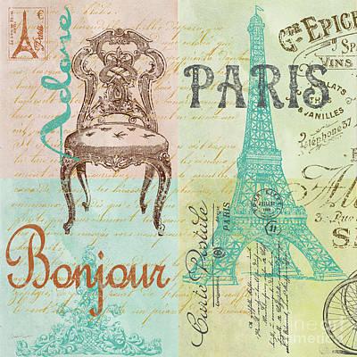 Patchwork Quilts Digital Art - Paris-jp1664-g by Jean Plout