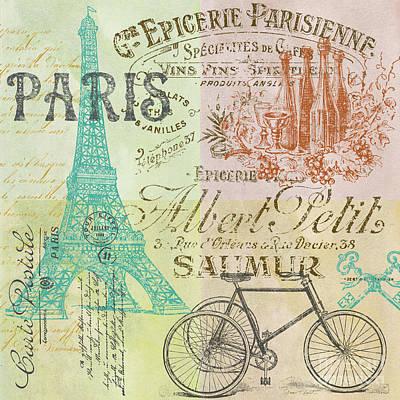 Patchwork Quilts Digital Art - Paris-jp1664-h by Jean Plout