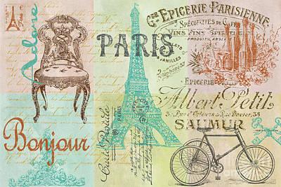 Patchwork Quilts Digital Art - Paris-jp1664 by Jean Plout