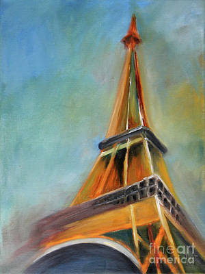 Tower Painting - Paris by Jutta Maria Pusl
