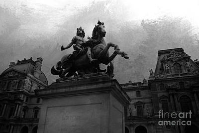 Photograph - Paris King Louis Xiv Louvre Palace Monument - Paris French Kings  by Kathy Fornal