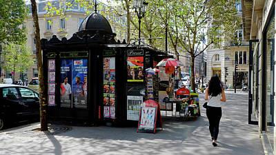 Photograph - Paris Kiosk by August Timmermans