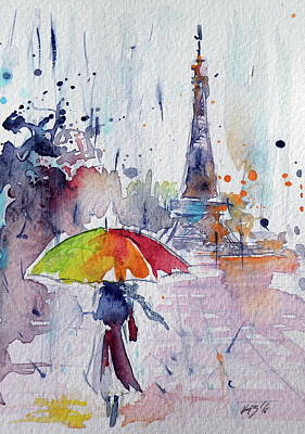 Paris Landscape Painting - Paris by Kovacs Anna Brigitta