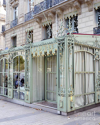 Photograph - Paris Laduree Door - Paris Laduree Sign - Paris Laduree Architecture Door Storefront  by Kathy Fornal