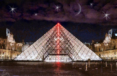 Louvre Digital Art - Paris Landmark by Anthony Caruso