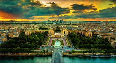 Paris Skyline Royalty-Free and Rights-Managed Images - Paris Landscape by Vincent Monozlay