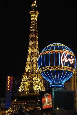 Paris Las Vegas Art Print by Kimberly Hill