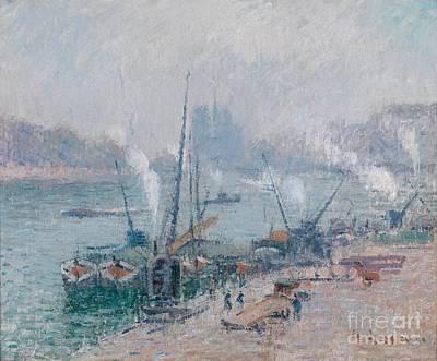 Paris Le Port Henri Iv Art Print by Celestial Images