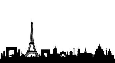 Paris Skyline Digital Art - Paris by Leon Bonaventura