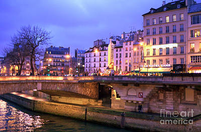 Photograph - Paris Lights At Night by John Rizzuto