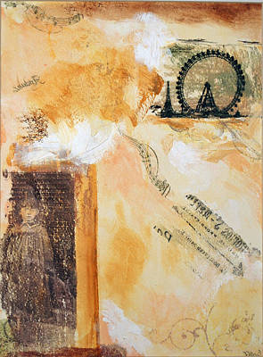 Little Girl Mixed Media - Paris Lost by Roberta Rose
