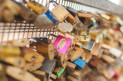 Paris - Love Locks Bridge Art Print