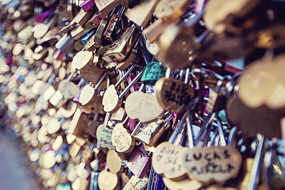 Photograph - Paris Love Locks by Melanie Alexandra Price