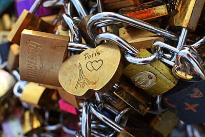 Photograph - Paris Love Locks Paris France Color by Toby McGuire