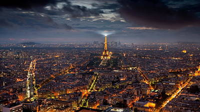 Skyline Digital Art - Paris by Maye Loeser