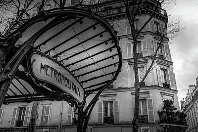 Photograph - Paris Metro Abbesses by Georgia Fowler