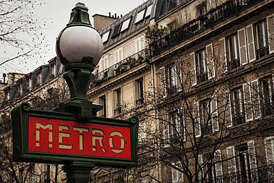 Paris Metro Print by Andrew Soundarajan