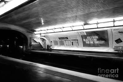 Photograph - Paris Metro Dreams Bw by Mel Steinhauer