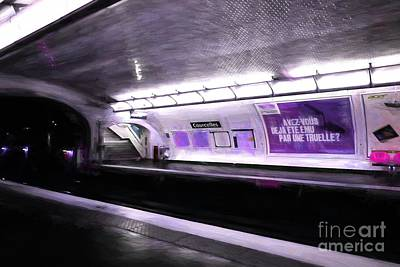 Photograph - Paris Metro Dreams by Mel Steinhauer