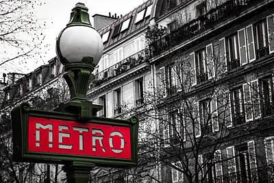 Green Color Photograph - Paris Metro In Color by Andrew Soundarajan