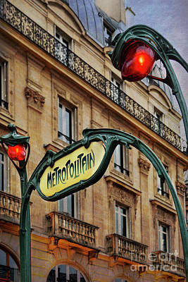 Photograph - Paris Metropolitain by Elena Nosyreva