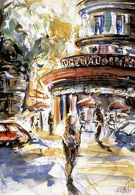 Tina Turner Painting - Paris by Miriam Selmi Reed