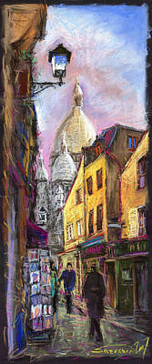 Pastels Pastel - Paris Montmartre 2 by Yuriy  Shevchuk