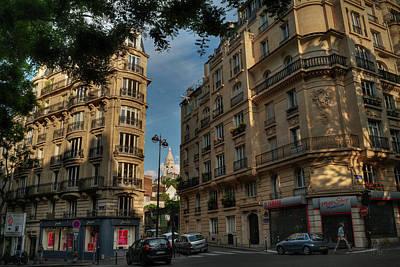 Street Photograph - Paris - Montmartre Streetscape 003 by Lance Vaughn
