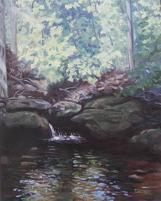 Painting - Paris Mountain Waterfall by Robert Decker