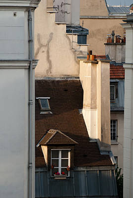 Photograph - Paris Neighborhood Marais Rooftops by Jani Freimann