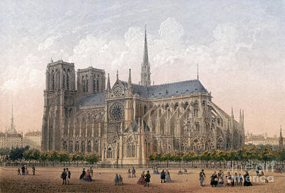 Drawing - Paris, Notre-dame, C1875 by Granger