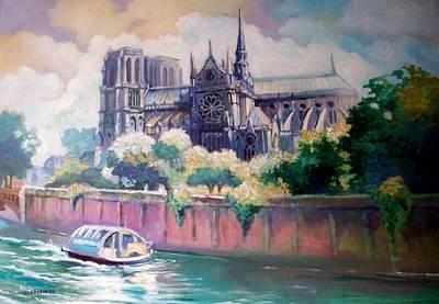Painting - Paris Notre Dame by Paul Weerasekera