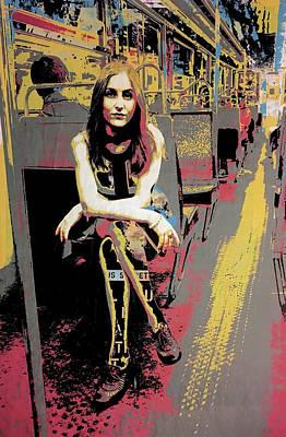 Metro Art Mixed Media - Paris Nylons by Shay Culligan