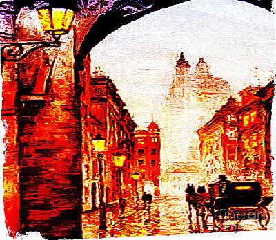 Painting - Paris Of Yester-year by Rod Jellison