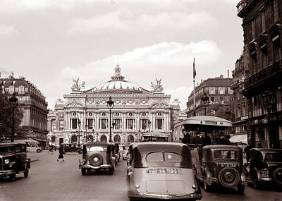 Photograph - Paris Opera 1935 Sepia by Andrew Fare