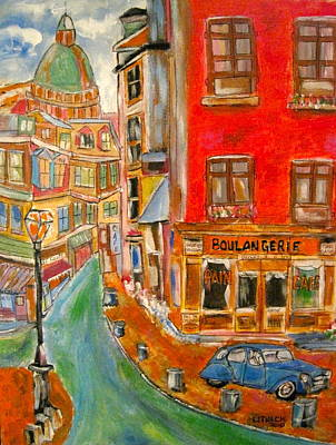 Litvack Painting - Paris Or Montreal by Michael Litvack