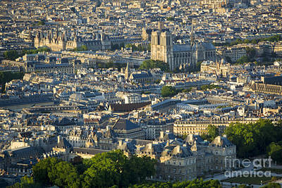 Photograph - Paris Overhead II by Brian Jannsen