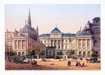 Digital Art - Paris - Palais De Justice Et Ste Chapelle - Remastered by Carlos Diaz