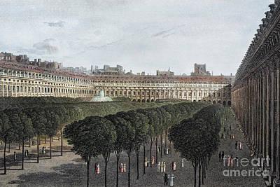 Photograph - Paris: Palais Royal, 1821 by Granger