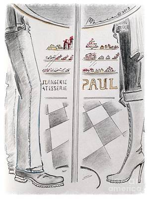 Bistro Drawing - Paris Patisserie by Barbara Chase