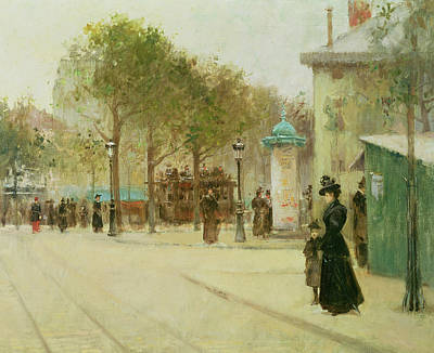 Victorian Painting - Paris by Paul Cornoyer