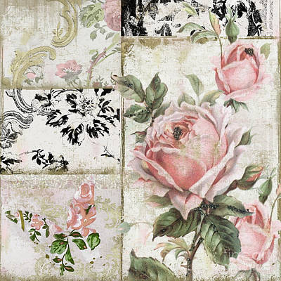 Faded Painting - Paris Pink Tea Roses by Mindy Sommers