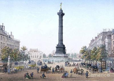 Drawing - Paris, Place De La Bastille by Granger