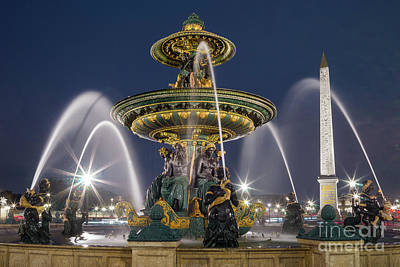 Concorde Photograph - Paris - Place De La Concorde - 003 by Olivier Parent