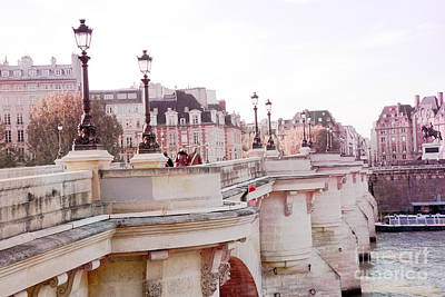 Paris Pont Neuf Bridge - Romantic Paris Bridges - River Seine Art Print