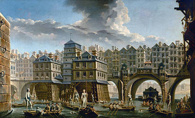 Painting - Paris: Pont Notre-dame by Granger