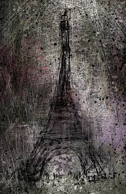 Louvre Digital Art - Paris by Rachel Christine Nowicki