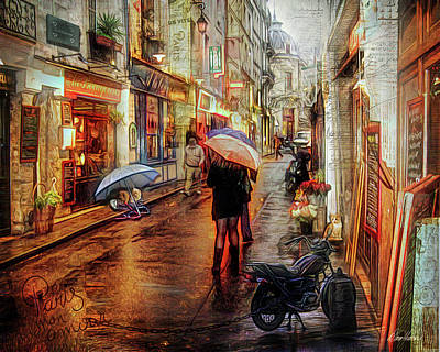 Photograph - Paris Rain by Diana Haronis