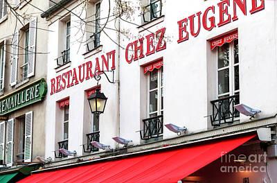 Photograph - Paris Restaurant Chez Eugene by John Rizzuto