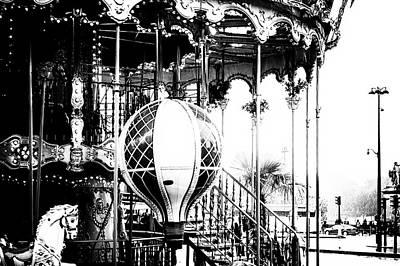 Paris Rides In Mono Art Print by Georgia Fowler